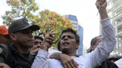 El líder opositor Leopoldo López.