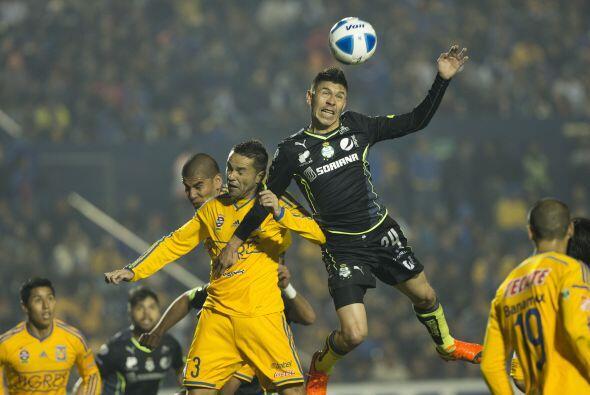 Santos Laguna rescató un empate a un gol en su visita a los Tigre...