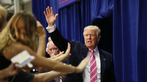 El candidato republicano Donald Trump, en un mitin en Fredericksburg (Vi...