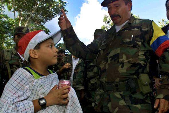 El jefe militar de las FARC, Jorge Briceño, alias Mono Jojoy, de...