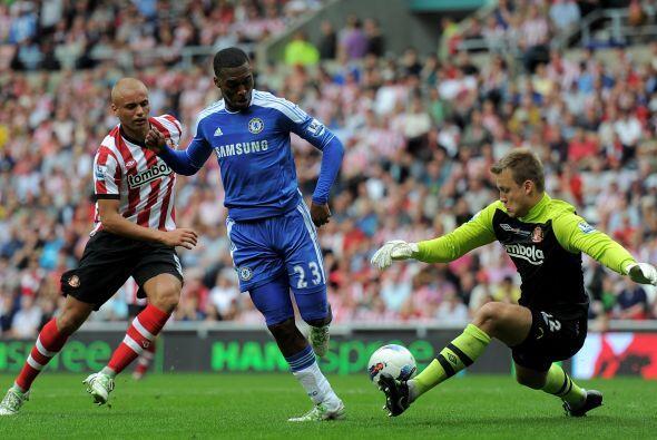 Los 'Blues' ganaron merecidamente por 2 a 1 gracias a los goles de John...