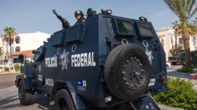 Elementos de la Policía Federal en Baja California, México. (Imagen de A...