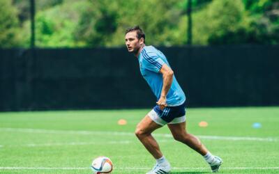Frank Lampard en entrenamiento con New York City FC