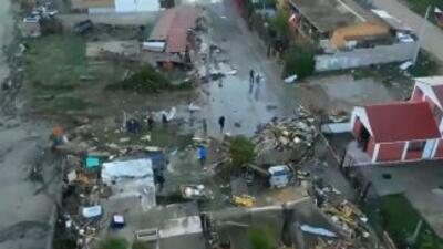 Tomas aéreas del terremoto en Chile y cómo la costa quedó devastada