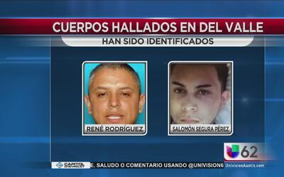 Identifican cuerpos hallados en Del Valle