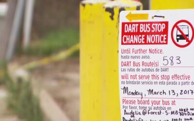 Clausurada una parada de autobús del sistema de transporte Dart por deli...