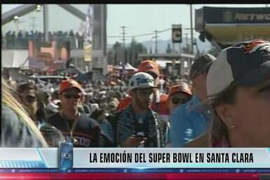 Fanáticos viven la emoción del Super Bowl en Santa Clara