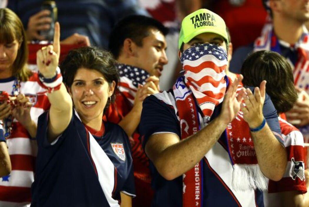 A pesar de que el partido fue en Jamaica, hubo hubo afición norteamerica...