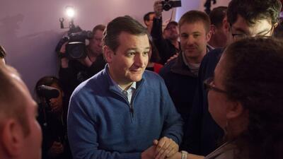 Ted Cruz tras relatar en New Hampshire el drama de su hermana Miriam