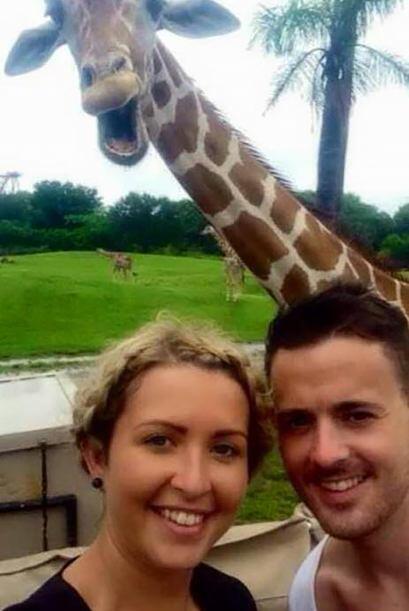 ¡Aunque ellos estaban encantados con la sonriente jirafa!