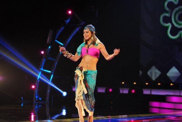 Esta joven eligió una danza típica venezolana pero no tuvo mucha suerte.
