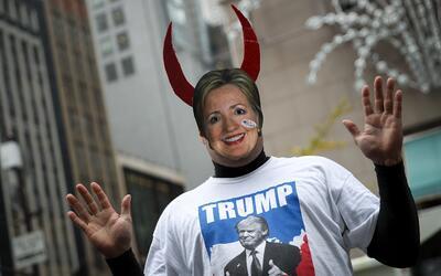 """Para los seguidores de Trump, Clinton era """"el diablo""""."""
