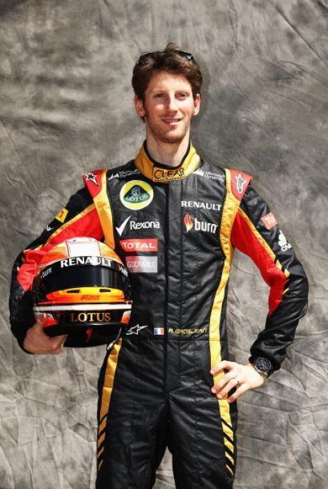 """Romain Grosjean, Francia, Lotus """"Renault."""