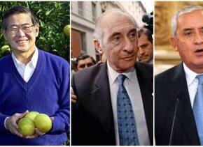 Alberto Fujimori,Fernando de la Rúa y Otto Pérez Molina.