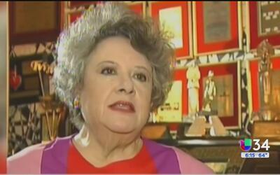 """Luto por la muerte de la actriz Evita """"Chachita"""" Muñoz"""