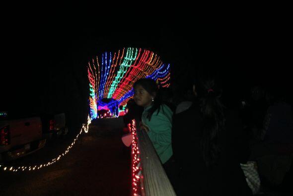 Los más pequeños quedan impresionados por la cantidad de luces.