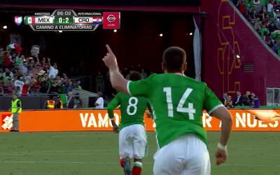 Goooolll!! Chicharito mete el balón y marca para Mexico