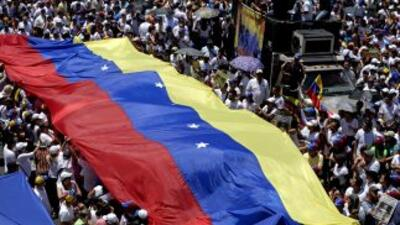 Opositores protestan en Venezuela