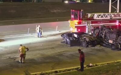 Varias personas fueron hospitalizadas tras accidente al este de la Autop...