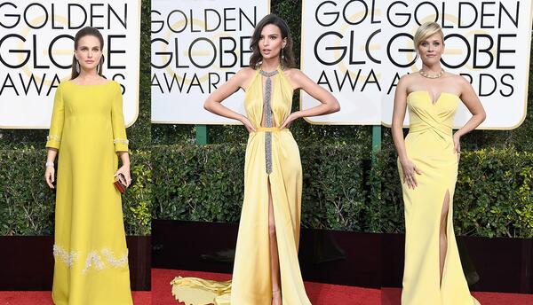El amarillo fue el color de la noche en los Golden Globes 2017. ¿...