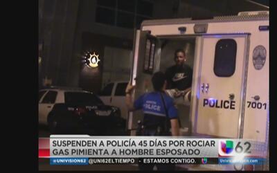 Suspenden a policía de Austin