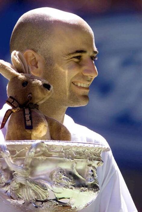 Andre Agassi considerado uno de los más grandes tenistas de todos los ti...