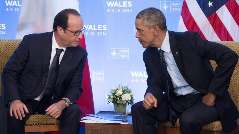 Hollande y Obama en el 2014.