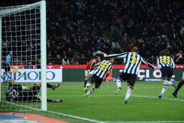 La Juventus lo festejó con todo, ya que de ésta manera siguen segundos.