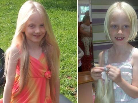 Esta pequeña donó su cabellera de Rapunzel para los ni&nti...
