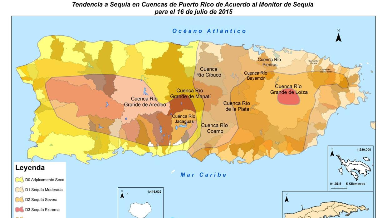 Puerto Rico sigue bajo sequía extrema