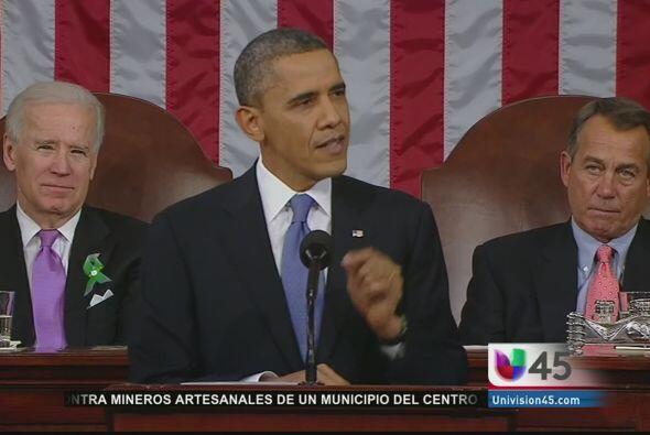 El presidente Barack Obama rindió el martes ante el Congreso su q...