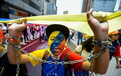 Activistas piden la libertad de los presos políticos en Venezuela