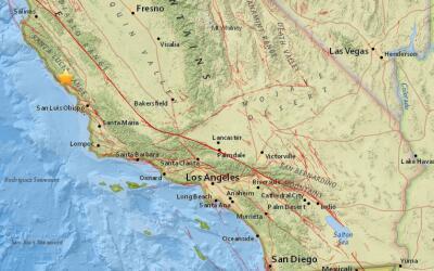 Un temblor de 3.2 sacudió la zona de San Simeon, California la ma...