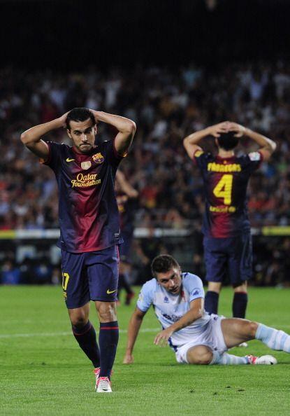 El gesto más repetido en el partido.
