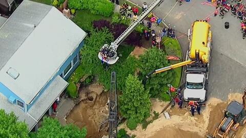 Derrumbe de pozo séptico se tragó vivo a un trabajador en Long Island