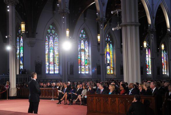 En un discurso muy emotivo, con el templo repleto, el presidente estadou...