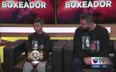 Ángel Reyna: un pequeño boxeador en camino al éxito