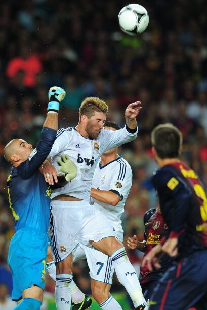 El Madrid estaba apostando al contragolpe para poder dañar a los locales.