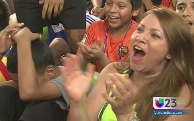 Fans celebran triunfo de Brasil