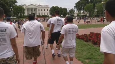 Víctimas de la Bestia llegaron a Washington para hablar con el President...