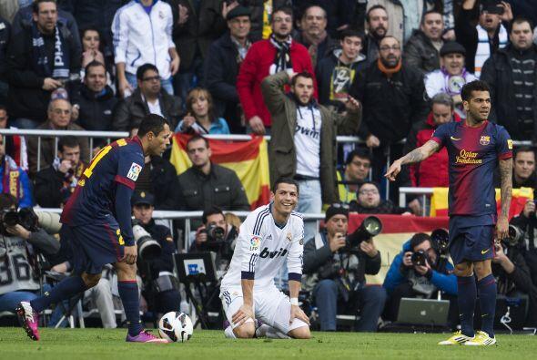 En la segunda parte entró Cristiano Ronaldo y el Barcelona comenzó a temer.