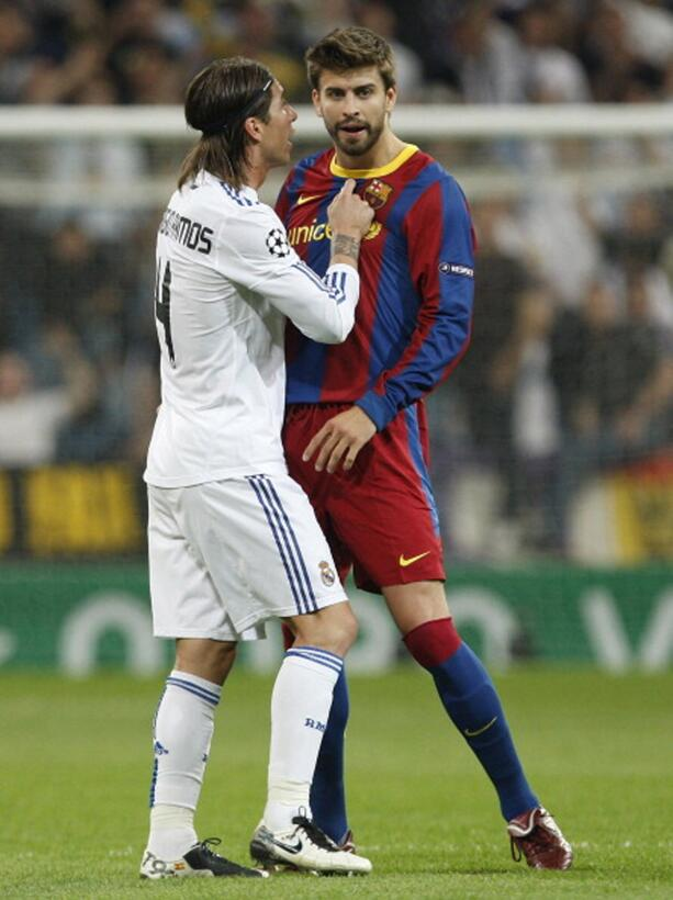Amigos y Rivales, en mundos desiguales: Ramos y Piqué ramos.jpg