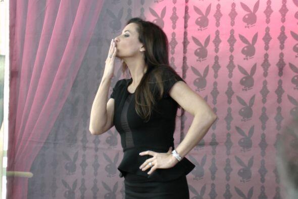 Yolanda presentó a la prensa la portada de 'Playboy' en la Ciudad...