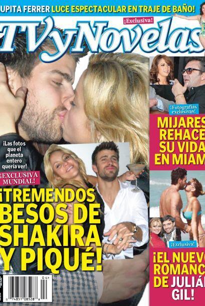 Semanas antes, el beso tan anhelado por los paparazzis se lo llev&oacute...