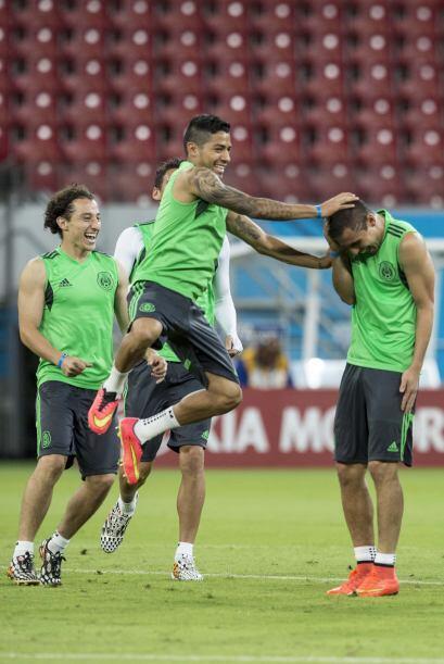 La selección mexicana pisó la cancah del Estadio Arena per...