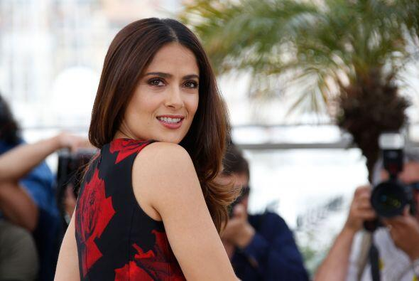 Salma Hayek llegó así al festival de cine de Cannes.