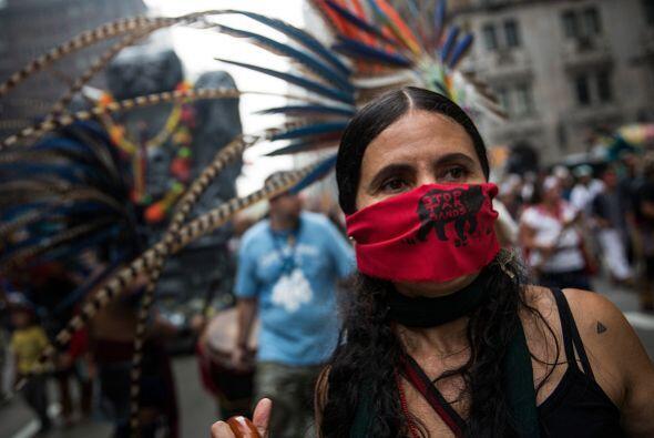 Los manifestantes piden mayor acción contra el cambio climático.