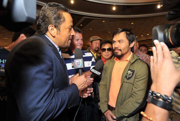 Pacquiao platicó con 'El Alcalde' y le comentó que está listo para lo qu...
