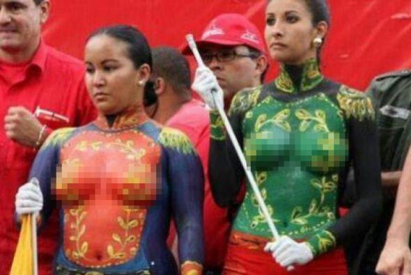 Con topless y body paint celebró el gobierno de Venezuela un aniv...