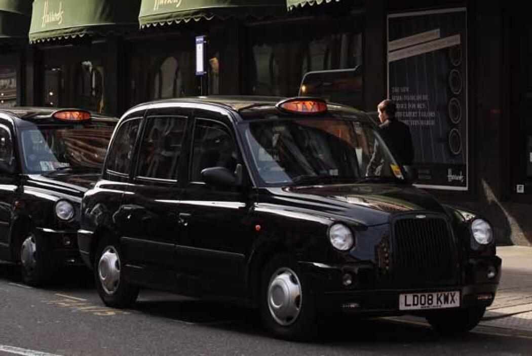 Los taxis de londres son un modelo de auto por si mismos.